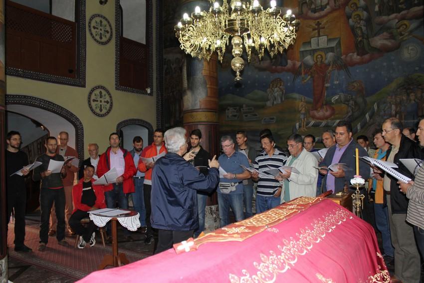 Μονὴ Λέλιτς πρόβα στον Ι. Ναό όπου φυλάσσεται το σκήνωμα τοῦ Ἁγίου Νικολάου Βελιμίροβιτς